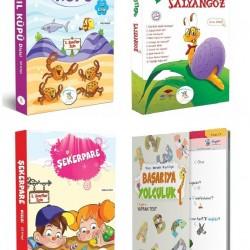 1. Sınıf Hikaye Kitabı 30 Kitap + Tüm Dersler Yaprak Test 5 Renk
