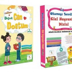 1. Sınıf Hikaye Kitabı 16 Kitap Can Dostum + Cici Hayvanlar 5 Renk