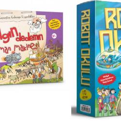 2 Ve 3. Sınıf Hikaye Kitabı Seti Robot Okulu + Çılgın Dedemin Zaman Makinesi 20 Kitap Daml