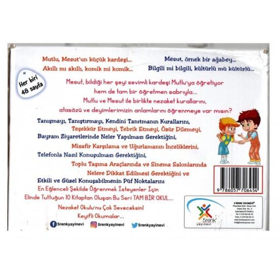 5 Renk Yayınevi Nezaket Okulu Hikaye Seti 10 Kitap