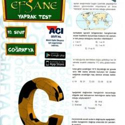 Açı Yayınları 10. Sınıf Coğrafya Efsane Yaprak Test