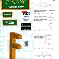 Açı Yayınları 10. Sınıf Fizik Efsane Yaprak Test