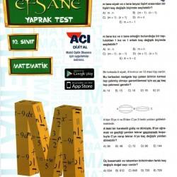 Açı Yayınları 10. Sınıf Matematik Efsane Yaprak Test