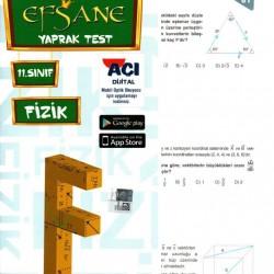 Açı Yayınları 11. Sınıf Fizik Efsane Yaprak Test