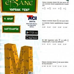 Açı Yayınları 11. Sınıf Matematik Efsane Yaprak Test