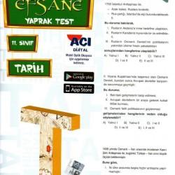 Açı Yayınları 11. Sınıf Tarih Efsane Yaprak Test