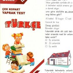Açı Yayınları 3. Sınıf Türkçe Çek Kopart Yaprak Test