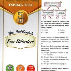 Açı Yayınları 5. Sınıf Fen Bilimleri Efsane Yaprak Test