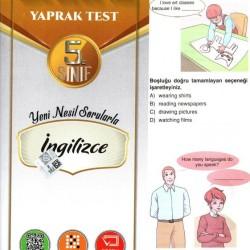 Açı Yayınları 5. Sınıf İngilizce Efsane Yaprak Test