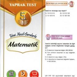 Açı Yayınları 5. Sınıf Matematik Efsane Yaprak Test