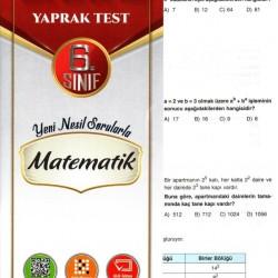 Açı Yayınları 6. Sınıf Matematik Efsane Yaprak Test