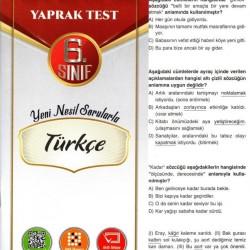 Açı Yayınları 6. Sınıf Türkçe Efsane Yaprak Test