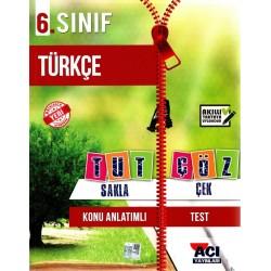 Açı Yayınları 6. Sınıf Türkçe Tut Sakla Çek Çöz