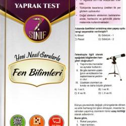 Açı Yayınları 7. Sınıf Fen Bilimleri Çek Kopar Yaprak Test
