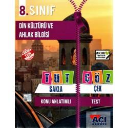 Açı Yayınları 8.Sınıf Din Kültürü ve Ahlak Bilgisi Tut Sakla Çek Çöz