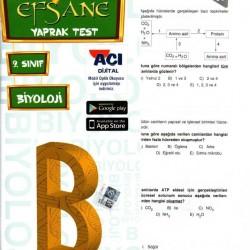 Açı Yayınları 9. Sınıf Biyoloji Efsane Yaprak Test