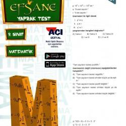 Açı Yayınları 9. Sınıf Efsane Matematik Yaprak Test