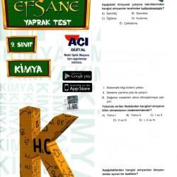 Açı Yayınları 9. Sınıf Kimya Efsane Yaprak Test