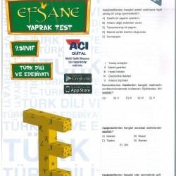 Açı Yayınları 9. Sınıf Türk Dili Ve Edebiyatı Efsane Yaprak Test