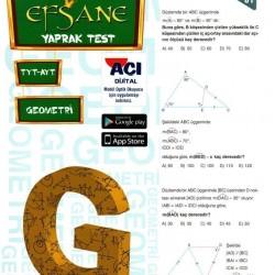 Açı Yayınları TYT AYT Geometri Efsane Yaprak Test