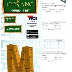 Açı Yayınları TYT Efsane Matematik Çek Kopart Yaprak Test