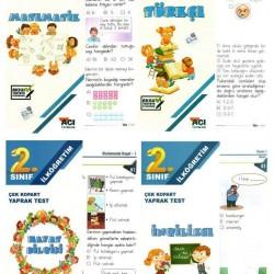 Açı Yayınları Yaprak Test 2. Sınıf Matematik Türkçe İngilizce Hayat Bilgisi Seti 4 Test
