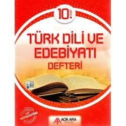 Açık Ara Yayınları 10. Sınıf Türk Dili ve Edebiyatı Defteri