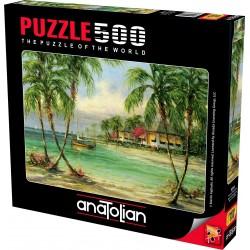 Anatolian Palmiye Manzarası 500 Parça Puzzle No. 3616