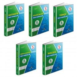 Aydın 5. Sınıf Matematik Türkçe Fen Sosyal İngilizce Ödev Fasikülleri Seti 5 Kitap