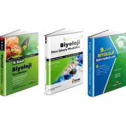 Aydın 9. Sınıf Biyoloji Soru Bankası+Ödev Fasikülleri+Ders İşleyiş Set 3 Kitap