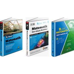 Aydın 9. Sınıf Matematik Soru Bankası+Ödev Fasikülleri+Ders İşleyiş Set 3 Kitap