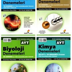 Aydın AYT Matematik Fizik Kimya Biyoloji Deneme Seti 4 Kitap