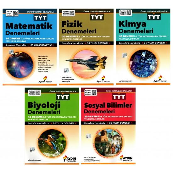 Aydın Matematik Fizik Kimya Biyoloji Sosyal TYT Deneme Seti 5 Kitap