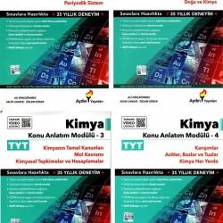 Aydın Yayınları TYT Kimya Konu Anlatım Modülü Set 4 Kitap