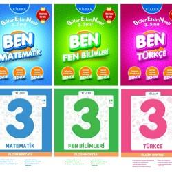 Bilfen 3. Sınıf Matematik Türkçe Fen BEN + Ölçüm Noktası Seti 6 Kitap