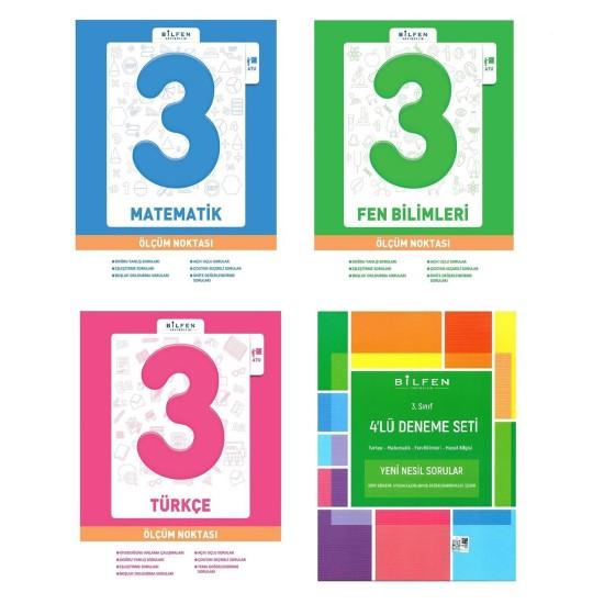 Bilfen 3. Sınıf Matematik Türkçe Fen Ölçüm Noktası + Deneme Seti 4 Kitap