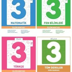 Bilfen 3. Sınıf Matematik Türkçe Fen Ölçüm Noktası + Tüm Dersler Seti 4 Kitap