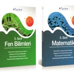 Bilfen 5. Sınıf Matematik+Fen Bilimleri Föy Seti 2 Kitap