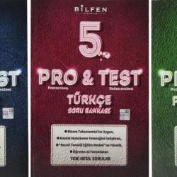 Bilfen 5. Sınıf Pro & Test Matematik Türkçe Fen Soru Bankası Seti