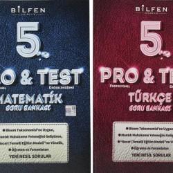 Bilfen 5. Sınıf Pro & Test Matematik Türkçe Soru Bankası Seti 2 Kitap