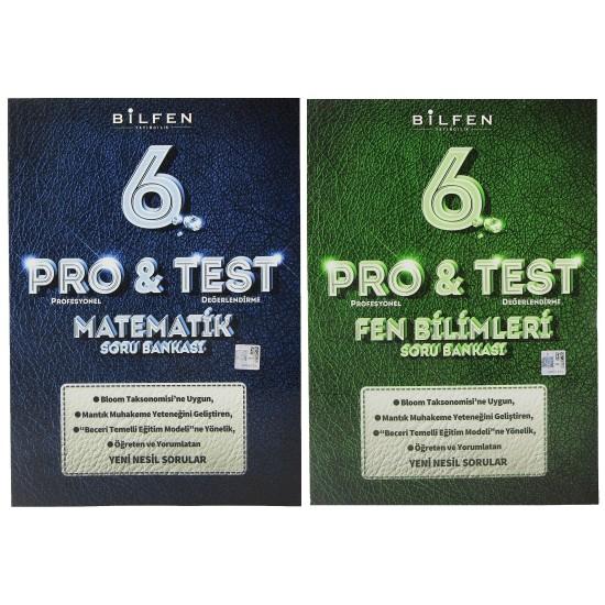 Bilfen 6. Sınıf Pro & Test Matematik Fen Soru Bankası Seti 2 Kitap