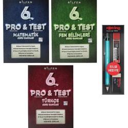 Bilfen 6. Sınıf Pro Test Matematik Türkçe Fen Soru Bankası 3 Kitap + Rotring Kalem Seti
