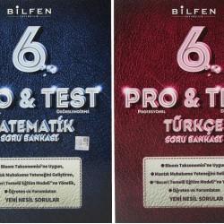 Bilfen 6. Sınıf Pro & Test Matematik Türkçe Soru Bankası Seti 2 Kitap
