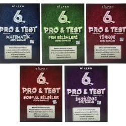 Bilfen 6. Sınıf Pro & Test Yeni Nesil Soru Bankası Seti 5 Kitap