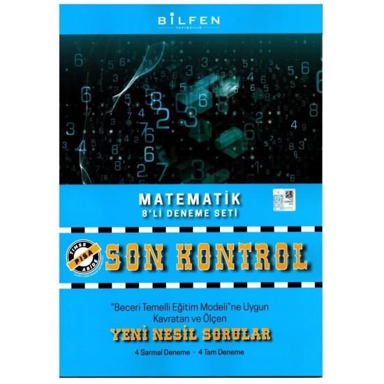 Bilfen 8. Sınıf Matematik Son Kontrol 8li Deneme Seti