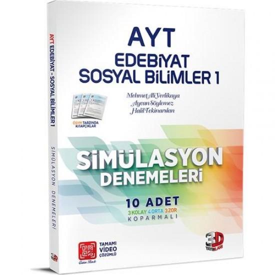 Çözüm AYT 3D Edebiyat Sosyal Bilimler 1 Simülasyon Denemeleri (10 Adet)