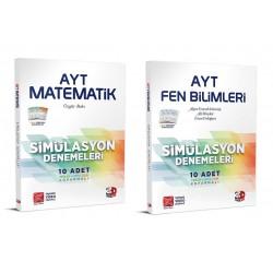 Çözüm AYT 3D Matematik Fen Bilimleri Simülasyon Deneme Seti 2 Kitap