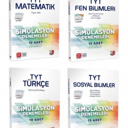 Çözüm TYT 3D Matematik Fen Türkçe Sosyal Simülasyon Deneme Seti 4 Kitap