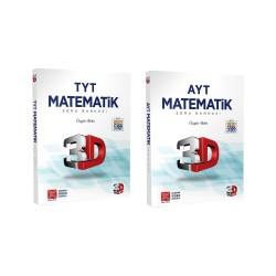 Çözüm TYT AYT 3D Matematik Soru Bankası Seti 2 Kitap