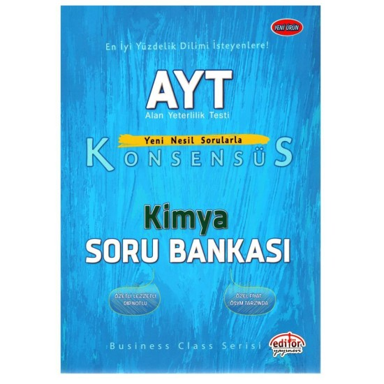 Editör Yayınları AYT Kimya Konsensüs Soru Bankası